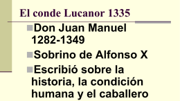 El conde Lucanor 1335 - Chandler Unified School