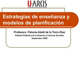 Modelos de planificación y estrategias de