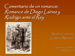 Comentario de texto Romance de Diego Laínez y