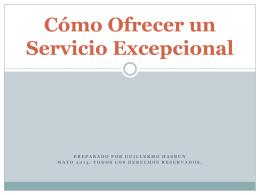 Cómo Ofrecer un Servicio Excepcional