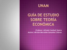 GUÍA DE ESTUDIO SOBRE TEORÍA ECONÓMICA