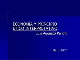 Diapositiva 1 - Corporación Ética, Economía y