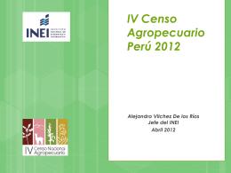 El Censo Agropecuario en el Perú 2012 -