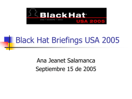 Black Hat Briefings 2005