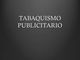TABAQUISMO PUBLICITARIO