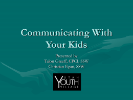 Communicating With Your Kids