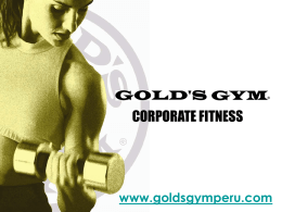 GOLD´S GYM CORPORATE FITNESS