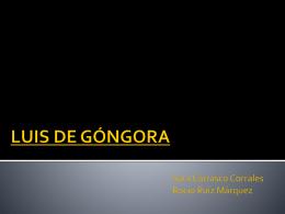 LUIS DE GÓNGORA - Tirar de Lengua