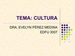 TEMA: CULTURA - EDFU 3001 / FrontPage