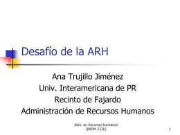 Desafío de la ARH