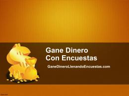 Diapositiva 1 - Gane Dinero Llenando Encuestas