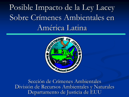 Lacey Act Amendments of 2008 International