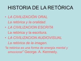 HISTORIA DE LA RETÓRICA