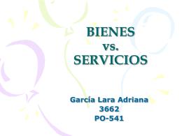 BIENES vs. SERVICIOS