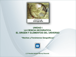 Hechos y Fenómenos Geográficos