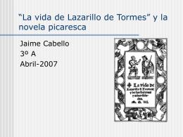 Lazarillo de Tormes y la novela picaresca - XTEC -