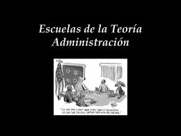 Escuelas de la teoría administración