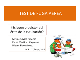TEST DE FUGA DE AIRE - UCI PEDIATRICA ARRIXACA