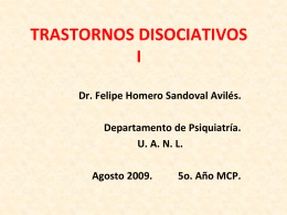 TRASTORNOS DISOCIATIVOS I