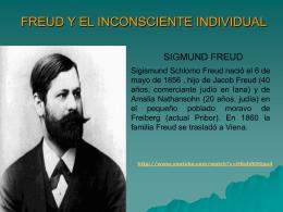 FREUD Y EL INCONSCIENTE INDIVIDUAL