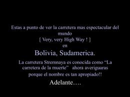 Autopista en Bolivia www.albelda.info