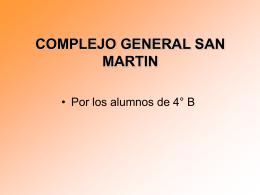 COMPLEJO TEATRO GENERAL SAN MARTIN