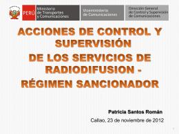 ACCIONES DE CONTROL Y SUPERVISIÓN