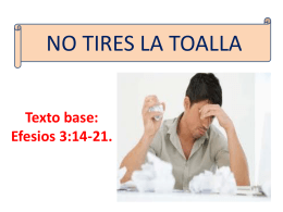 NO TIRES LA TOALLA