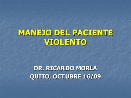 MANEJO DEL PACIENTE VIOLENTO