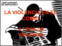 LA VIOLENCIA EN EL COMIC
