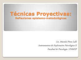 Técnicas Proyectivas: Reflexiones