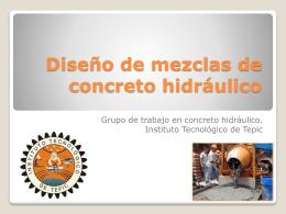 Método para el diseño de mezclas de concreto en