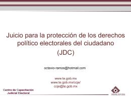 Tema 9. Derecho Electoral