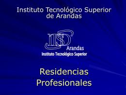 Residencias Profesionales - Instituto Tecnológico