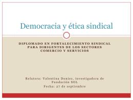 Democracia y ética sindical