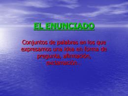 EL ENUNCIADO