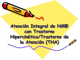 Atención Integral de Niñas/ Niños y Adolescentes