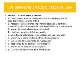 LOS DEPORTES EN LOS DIARIOS DE LOJA -