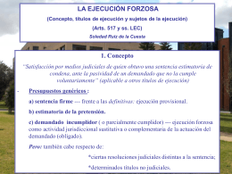 Power Point, 1. Ejecución Forzosa (concepto,