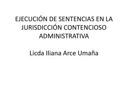 EJECUCIÓN DE SENTENCIAS EN LO CONTENCIOSO