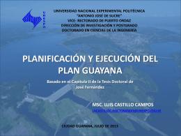 Planificación y Ejecución del Plan Guayana