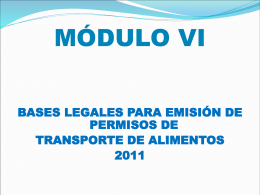 TRANSPORTE DE ALIMENTOS - Ministerio de Salud
