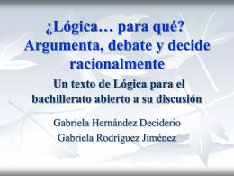 Lógica… para qué? Un texto de Lógica para el