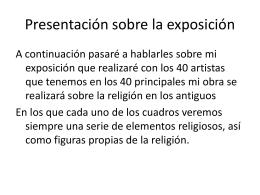 Presentación sobre la exposición
