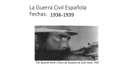 La Guerra Civil Española Fechas: