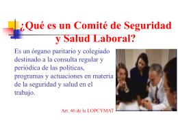 ¿Qué es un Comité de Seguridad y Salud Laboral?
