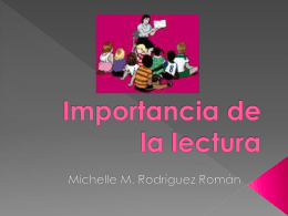 Importancia de la lectura - El Blog Educativo de