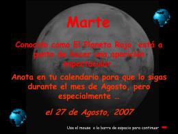 Marte en Agosto