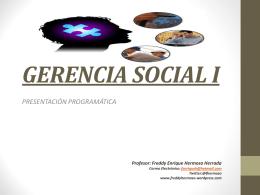 GERENCIA SOCIAL I