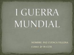 I GUERRA MUNDIAL - Instituto Bachiller Sabuco